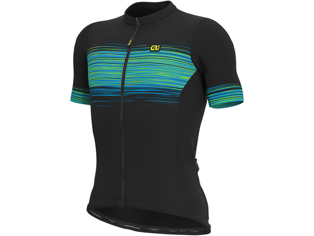 Alé Cycling Solid Start Maillot manga corta Hombre, black/fluo green